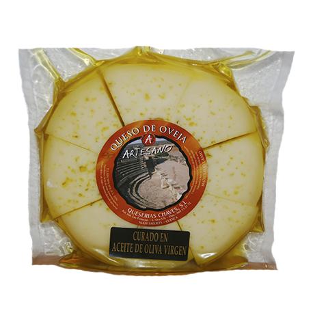 Ruleta de queso en aceite